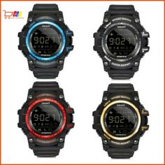 LOKMAT EX16 Men Smart Watch Health Sports Monitoring LCD Android iOS Waterproof #LOKMAT Android, Casio Watch, Smart Watch, Monitor, Ios, Watches, Digital, Health, Sports