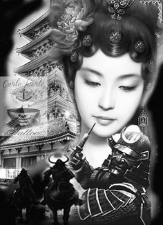 digital art tattoo #geisha tattoo #japanese tattoo #samurai tattoo #tattoo idea