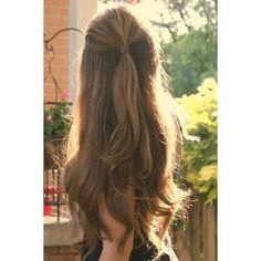 50 Gorgeous Holiday Hairstyles from Pinterest ❤ liked on Polyvore featuring hair and hairstyles