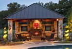 Outdoor Living by Southwest Fence & Deck www.southwestfence.com #outdoorliving #outdoorfireplace