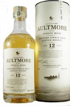 Aultmore 12 year old Single Malt Scotch Whisky Foggie Moss Good Whiskey, Scotch Whiskey, Bourbon Whiskey, Speyside Whisky, Whiskey Brands, Spirit Drink, Blended Whisky, Pot Still, Single Malt Whisky
