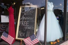 We had such a great #VeteransDay hosting #BridesAcrossAmerica! We love being able to show our support through #EvalinesWindows!   #EvalinesBridal #MilitaryBrides #WeSupportOurTroops #WeSupportMilitaryBrides #MilitaryWeddings #VeteransDay2014 #WeddingDresses #Giveaway