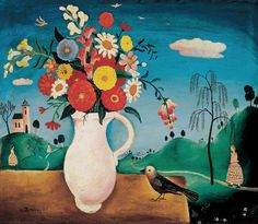 Pekáry, István - Still life with a bird Be Still, Still Life, Auction, Bird, Paintings, Artists, Google, Drawings, Flowers