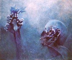 """""""Blue"""" by  Zdzisław Beksiński."""