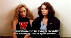"""Veronica passing on true teen wisdom: 