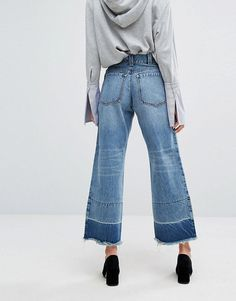 EVIDNT Raw Hem Skater Jeans - Blue