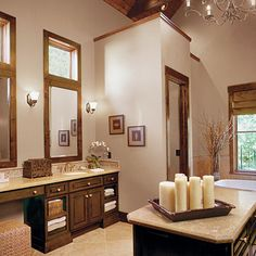 Island in bathroom
