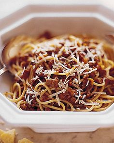 Spaghetti with Veal Bolognese Sauce - Martha Stewart Recipes