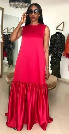 African Dresses For Kids, African Maxi Dresses, Latest African Fashion Dresses, African Attire, Classy Dress, Classy Outfits, Chic Outfits, Shift Dress Outfit, Casual Dresses