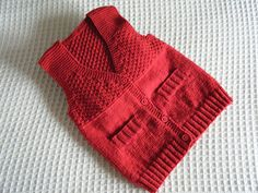 Ravelry: f4frogs' Red waistcoat