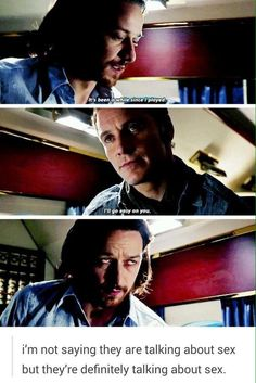 Cherik getting back together in Days of Future Past plane scene Embedded image permalink
