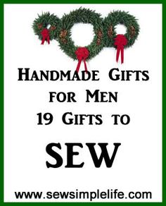 19 gifts to sew for men