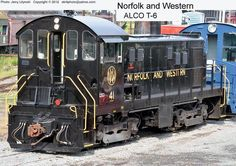 In Roanoke, Virginia:  Norfolk and Western Engine No. 41, a ALCO T-6 motor.