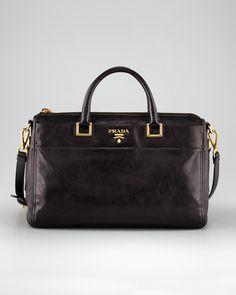 "Prada l Extra-Wide Tote Bag by Prada at Neiman Marcus l 2,150,890.00 -> 967,286.00 l 10""H x 14 1/4""W x 5 1/2""D."