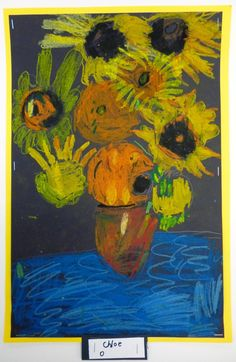 Camp Monet: Artistic Freedom: 1st Grade Van Gogh Sunflowers… Lesson On Seeing Color