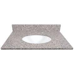 US Marble Copenhagen Quartz Undermount Bathroom Vanity Top (Common: 31-in x 22-in; Actual: 31-in x 22.25-in)