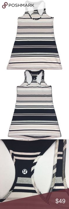Lululemon Cool Racerback Tank Groovy Nimbus Stripe Used in Excellent Condition/ No Trades/ No PayPal/ Smoke & Pet Free Home/ Please Ask Questions!/ Like what you see but the price too high? Make an offer! lululemon athletica Tops Tank Tops