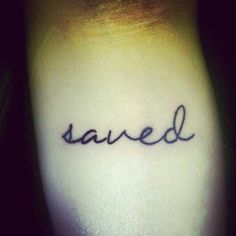 Saved #tattoo #minimal #tattoos