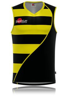 Bee design rugby vest by www.samurai-sports.com