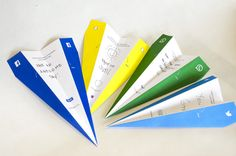 SocialPlanes, A Series of Paper Airplanes Designed to Physically Send Social Media Messages