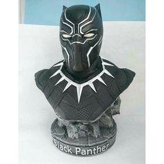 1 2 Legendary Scale Marvel Avengers Black Panther Bust Captain America Civil War | eBay
