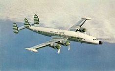 Famgus Aviation Postcards: Lockheed Constellation Super H, of REAL Brazilian airlines.