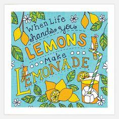 Lemonade Print 8x8 art, screenprint, multi