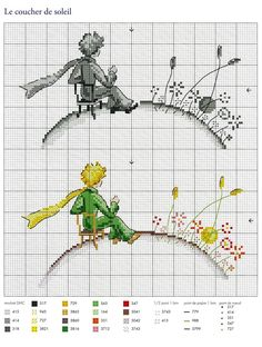 ru / Фото # 1 - Le Petit Prince a broder au point de croix 2017 - Chi .ru / Фото – Le Petit Prince a broder au point de croix 2017 – Chispitas Dmc Cross Stitch, Cross Stitch For Kids, Cross Stitch Bookmarks, Cross Stitch Baby, Modern Cross Stitch, Cross Stitch Designs, Cross Stitching, Cross Stitch Embroidery, Embroidery Patterns
