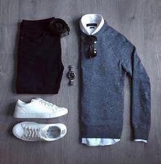 Mens Essentials on – Daily Fashion Stylish Mens Outfits, Casual Outfits, Fashion Outfits, Male Outfits, Stylish Man, Casual Shoes, Fashion Ideas, Fashion Inspiration, Fashion Trends