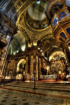 Spread of Catholicism - Cathedral Metropolitana, Buenos Aires, Argentina. Places Around The World, Oh The Places You'll Go, Places To Travel, Places To Visit, Around The Worlds, Beautiful Buildings, Beautiful Places, Beautiful World, Argentine Buenos Aires