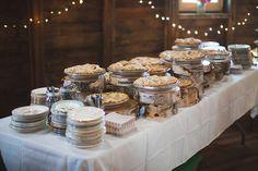 Wedding pie bar!