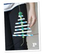Sugrörsgranar / Paper straw ornaments - Pysselbolaget - Enkla roliga pyssel för barn och vuxna