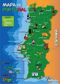Portugal Food Guide By Leslie Wang Mapa Da Comida Portuguesa Por - Portugal mapa