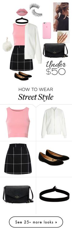 """Untitled #19"" by andreard on Polyvore featuring Glamorous, New Look, The Flexx, Accessorize, Lime Crime, Trish McEvoy, Charlotte Russe, under50 and skirtunder50"