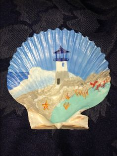 Lighthouse Scallop Shell