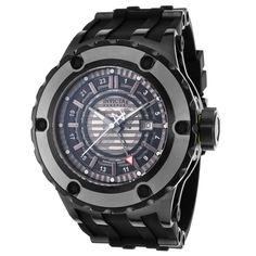 Invicta 16824 Men's Subaqua Reserve Skeleton Silver & Black Dial Steel & Rubber Strap GMT Dive Watch