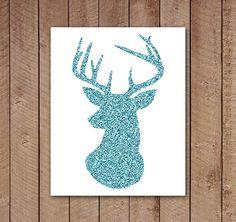Deer Antlers, but in red or green glitter! Deer Antlers, Deer Heads, Stag Head, Antler Art, Deer Silhouette, Deer Art, Oh Deer, Painting Inspiration, Room Inspiration