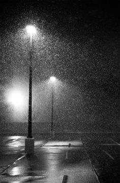 Photo Spring Snowfall by Michael Paniagua on Rainy Wallpaper, Oh Paris, I Love Rain, Rain Days, Rain Photography, Black And White Aesthetic, Winter Scenery, Black And White Painting, Winter Wonder