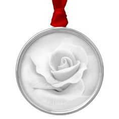 White Rose Ornaments #Rose #Flower #Ornament