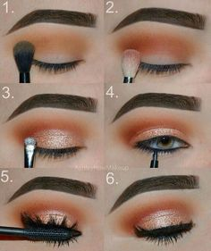 Gorgeous Makeup: Tips and Tricks With Eye Makeup and Eyeshadow – Makeup Design Ideas Makeup Eye Looks, Eye Makeup Steps, Cute Makeup, Prom Makeup, Pretty Makeup, Skin Makeup, Eyeshadow Makeup, Beauty Makeup, Dance Makeup