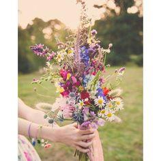 Bouquet de mariee fleurs des champs