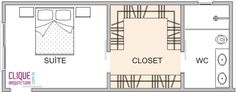 Clique Arquitetura - Seu portal de Ideias e Soluções - Closet: Aspectos Construtivos