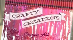 DIY Crayon Art {all you need is a canvas, hot glue, crayons and a blowdryer... instant wall art!} #CraftyCreations