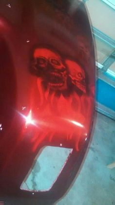 Airbrushed golf cart