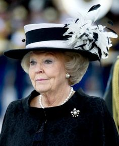Queen Beatrix | The Royal Hats Blog. Love her.  She is so cute