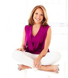 As her new talk show launches, Katie Couric shares her midlife lessons on dealing with regrets, looking for lasting love, managing menopause(! Katie Couric, Photoshoot Inspiration, Me Time, Interview, Hair Beauty, Celebs, Hair Styles, People, Photo Shoot