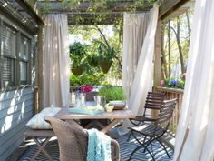 HGTV.com shares creative ways to add privacy to your backyard that go beyond a traditional fence.