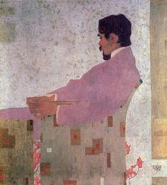 Portrait of the painter Anton Peschka. Egon Schiele.