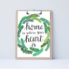Attirant Hand Lettered Home Wall Art, Print, Typography Gift, Holiday Present,  Bedroom Home