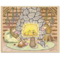 """Quiet Evening with Friends"" from House-Mouse Designs® (HMTR1046)"